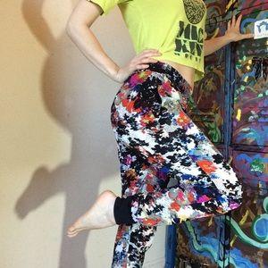 Aqua Pants - Aqua Ankle tight billow pant Wild Print